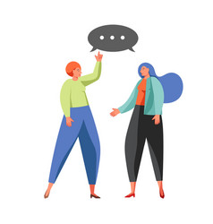 political talk concept flat isolated vector image