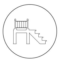 Porch icon black color in circle vector