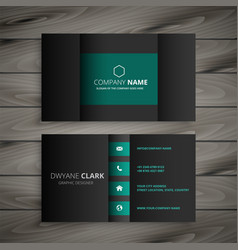 Professional dark business card design vector