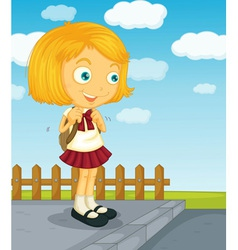 Ready for school vector image