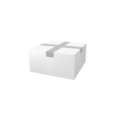 realistic box 3d mockup package wrapped with tape vector image