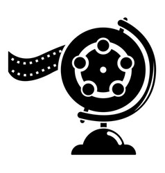 reel film icon simple black style vector image