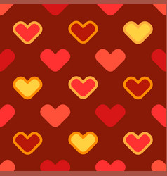 Seamless cartoon background with stylized hearts vector