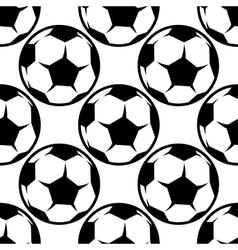 Seamless football or soccer pattern background vector
