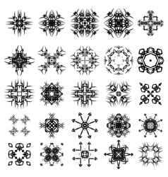 Set of Different Tribal Rosettes Tattoo vector image