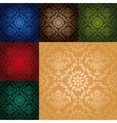 Set seamless wallpaper pattern vector