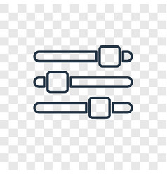 settings bars concept linear icon isolated on vector image