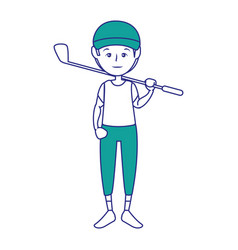 sport man cartoon vector image