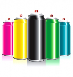 spray cans vector image