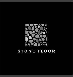 square stone floor construction real estate logo vector image