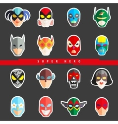 Super hero masks for face character Superhero vector