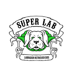 super labrador retriever dog wearing green cape vector image