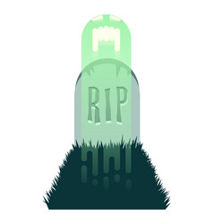 the haunted grave two vector image
