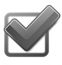 tick symbol vector image