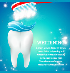 tooth whitening 1 vector image