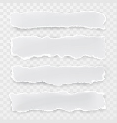 torn paper pieces transparent background template vector image