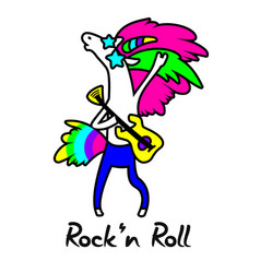 unicorn rock star for design vector image