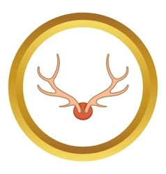 Antlers icon vector