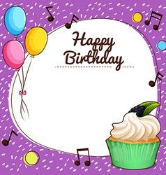 Birthday theme with cupcake vector