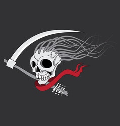 death with scythe vector image