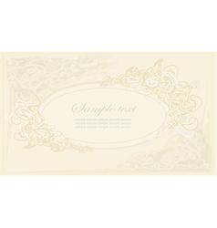floral frame invitation card vector image