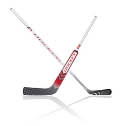 hockey sticks vector image vector image