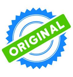 original stamp flat icon vector image vector image