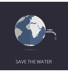 Save the water vector image