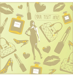 Vintage Beauty Fashion Pattern vector image vector image