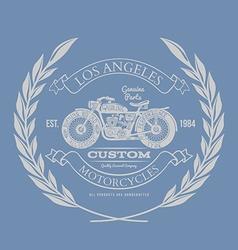 Vintage Motorcycle T-shirt Design vector image