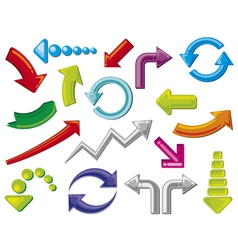 arrows icons - arrows icons set vector image vector image
