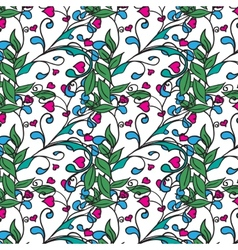 Hand drawing floral background Seamless pattern vector image vector image