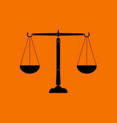 justice scale icon vector image