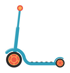 Kids kick scooter isolated on a white background vector