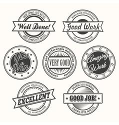 Motivative Badges Set vector image vector image