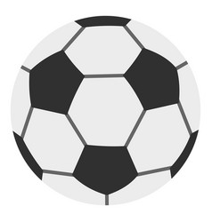 soccer ball icon isolated vector image vector image