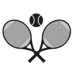 tennis sport icon design vector image