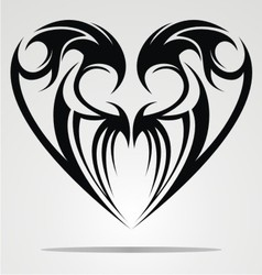 Heart Shape Tattoo Design vector image