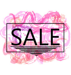 pink sale off sign over grunge brush art paint vector image