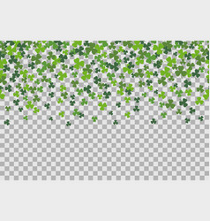 seamless pattern with clover leafs for st patricks vector image