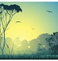 country meadow landscape vector image vector image