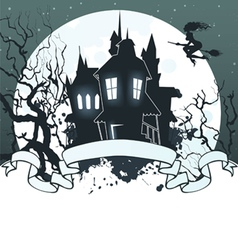 halloween ribbon dark back vector image vector image