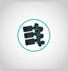 spine logo icon vector image vector image