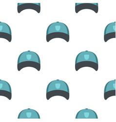 Winter hat pattern flat vector