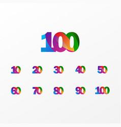 100 years anniversary celebration elegant color vector