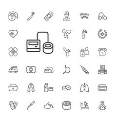 33 healthcare icons vector