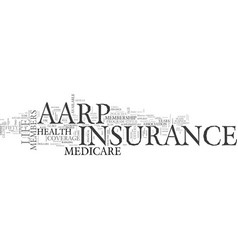 Aarp life insurance and medicare insurance an vector