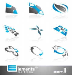 abstract 3d elements vector image