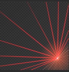 Abstract red laser beam vector