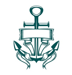 anchor with ribbon vector image